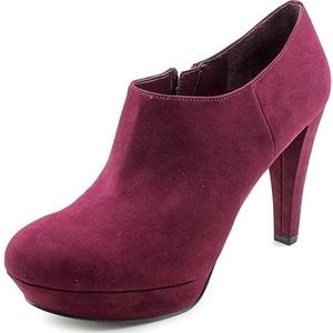 Marc Fisher Abetter 2 Burgundy Booties, Size 37.5